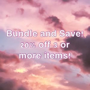 Save when you Bundle! 20% off 3 or more items!